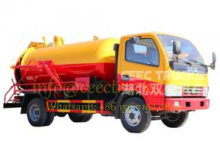 2016 best selling model 4CBM sewage suction tanker truck