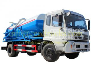 Dongfeng top design 9CBM vacuum suction tanker truck
