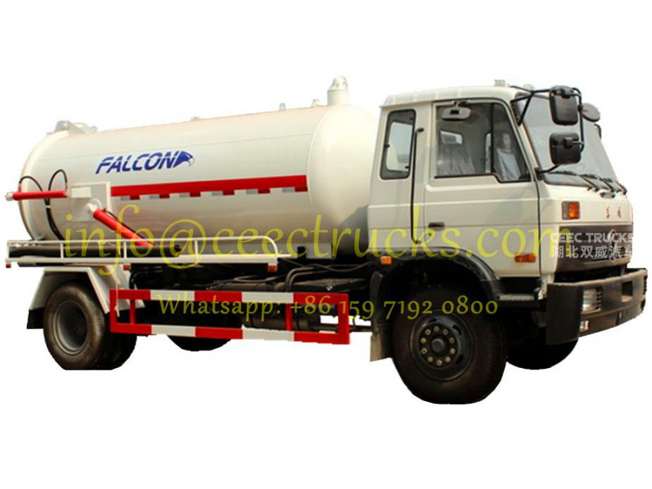 TOP design dongfeng 8cbm cesspit emptier export Ecuador low price