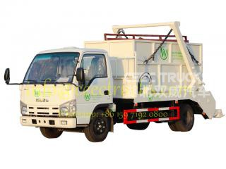ISUZU 6CBM swing arm garbage truck export Asia country