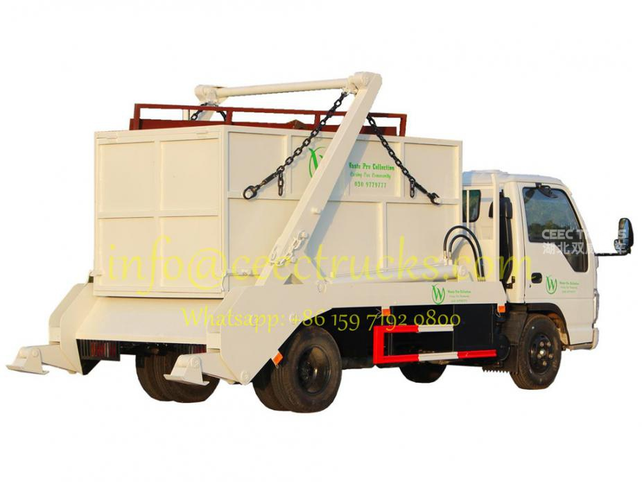ISUZU quality 6000Liters swing arm refuse vehicle hot sale