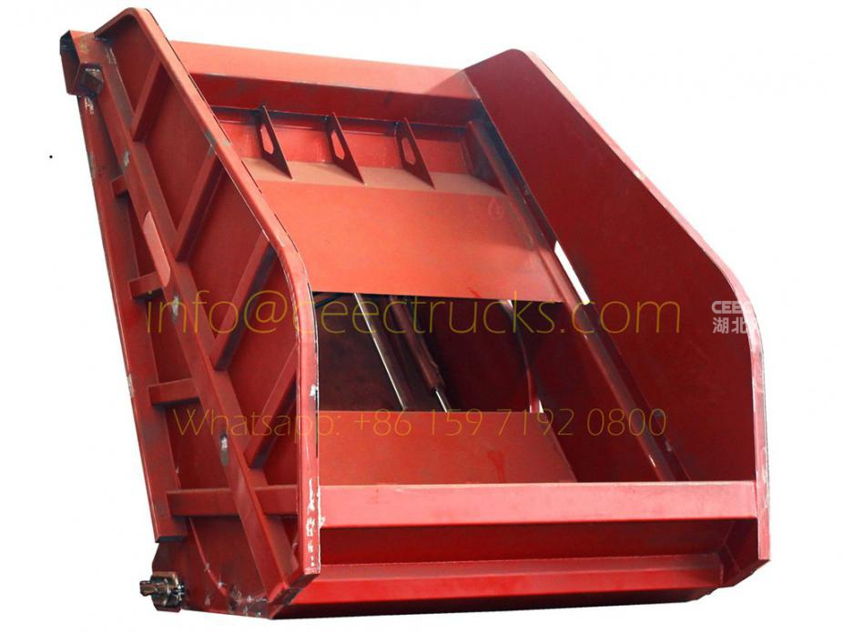 10CBM Myanmar compressed refuse truck tailgate assembly