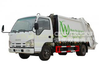 Asia country buy ISUZU 6cbm compressed refuse truck bottom price