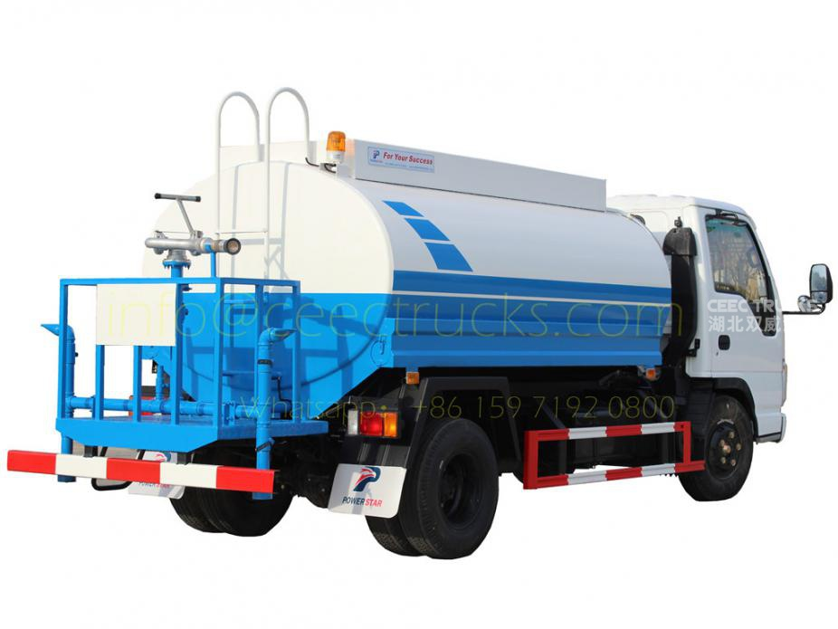 Factory price sale ISUZU 5,000 Litres water tanker truck