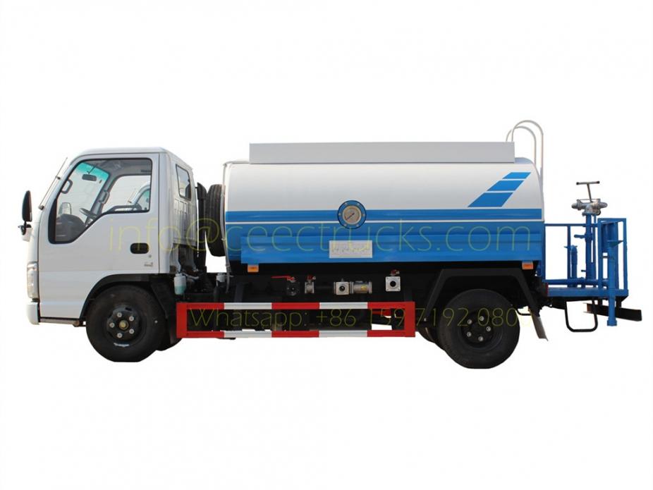 5CBM water bowser truck ISUZU