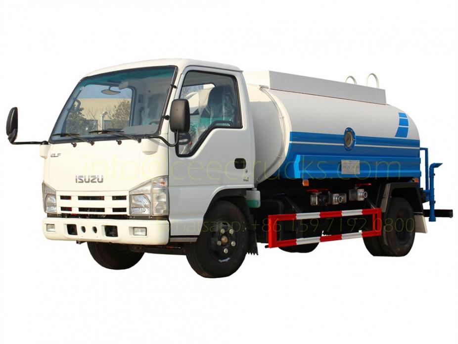 Factory export ISUZU 5,000 Litres water tanker truck