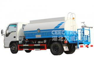 5CBM water bowser truck export asia country