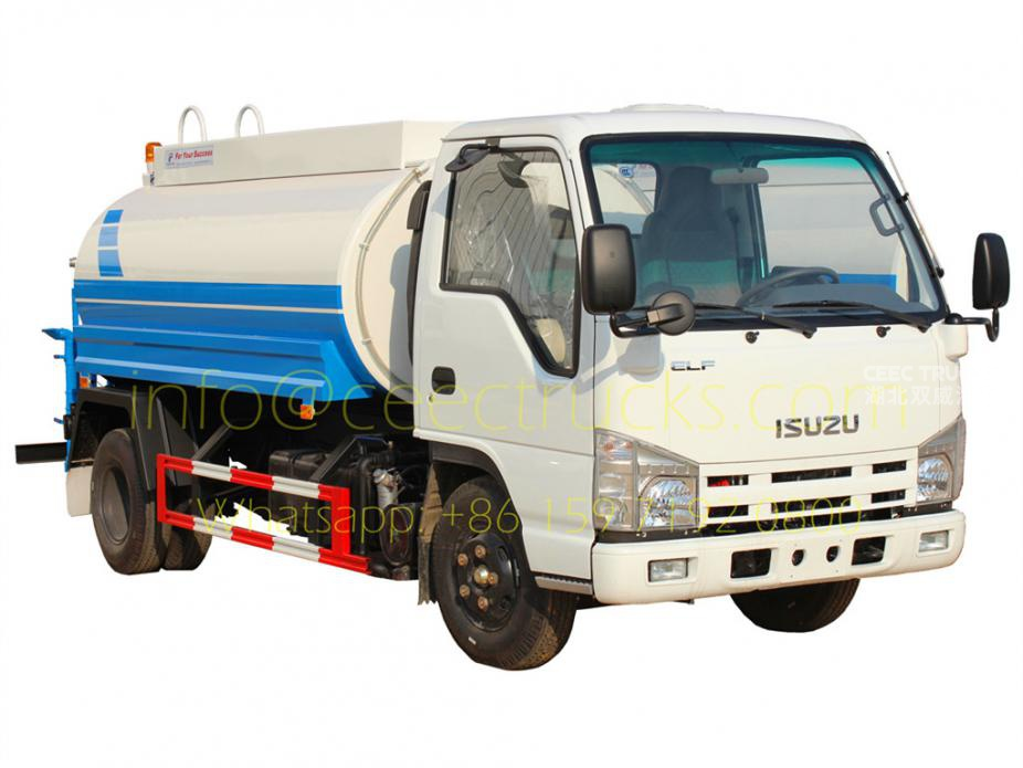 Manufacturer supply ISUZU 5m³ water tanker truck low price