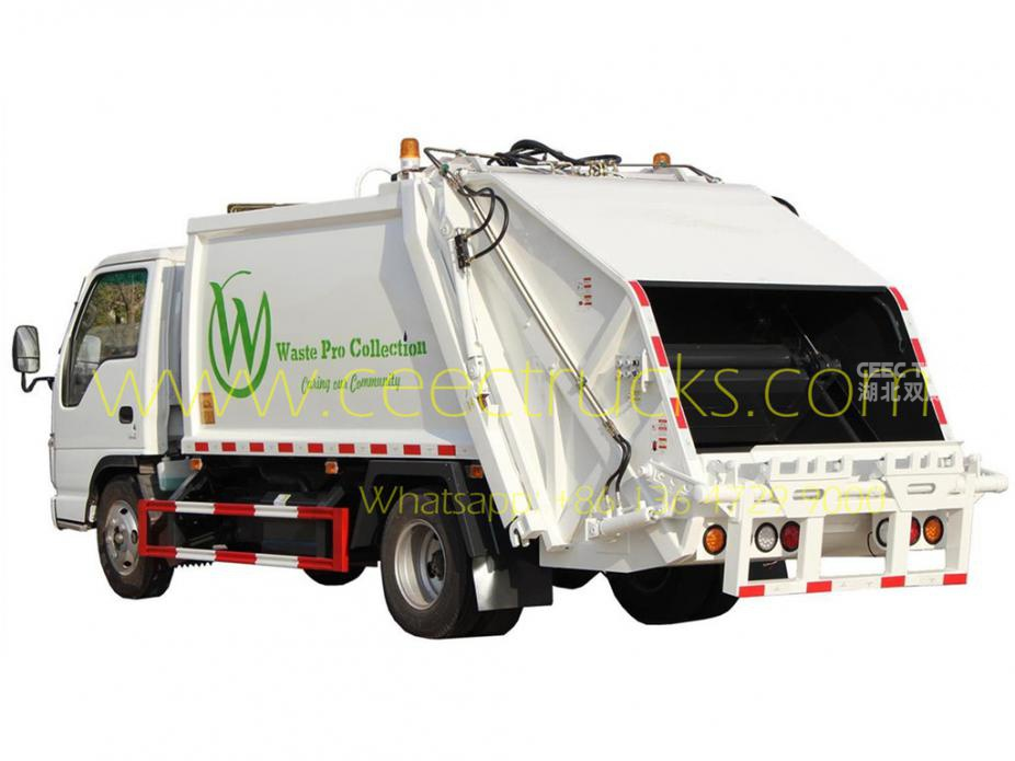 ISUZU 5cbm compressed garbage truck