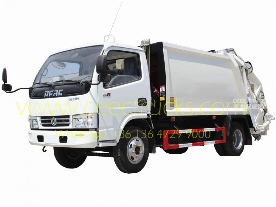 China Dongfeng 6 CBM garbage compactor truck