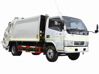 Low price Dongfeng 6 CBM trash compactor truck