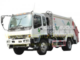Japan technology 12 CBM garbage compactor truck