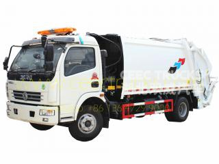 Famous DongFeng 8 CBM waste compactor truck