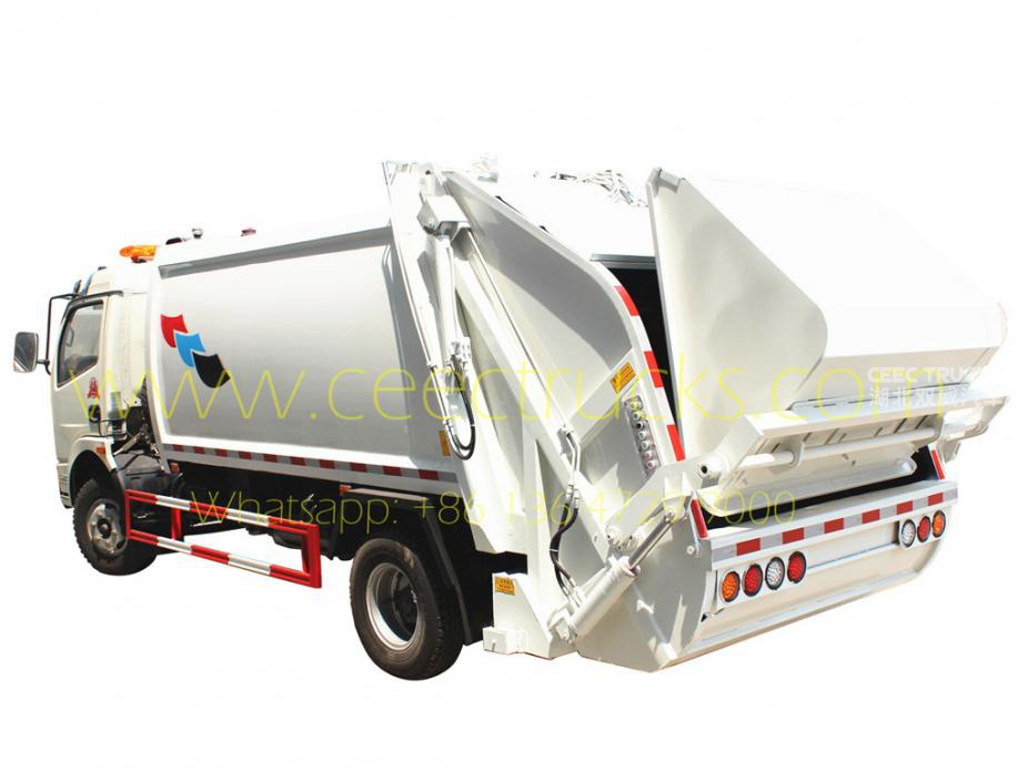 Low price DongFeng 8 CBM waste compactor