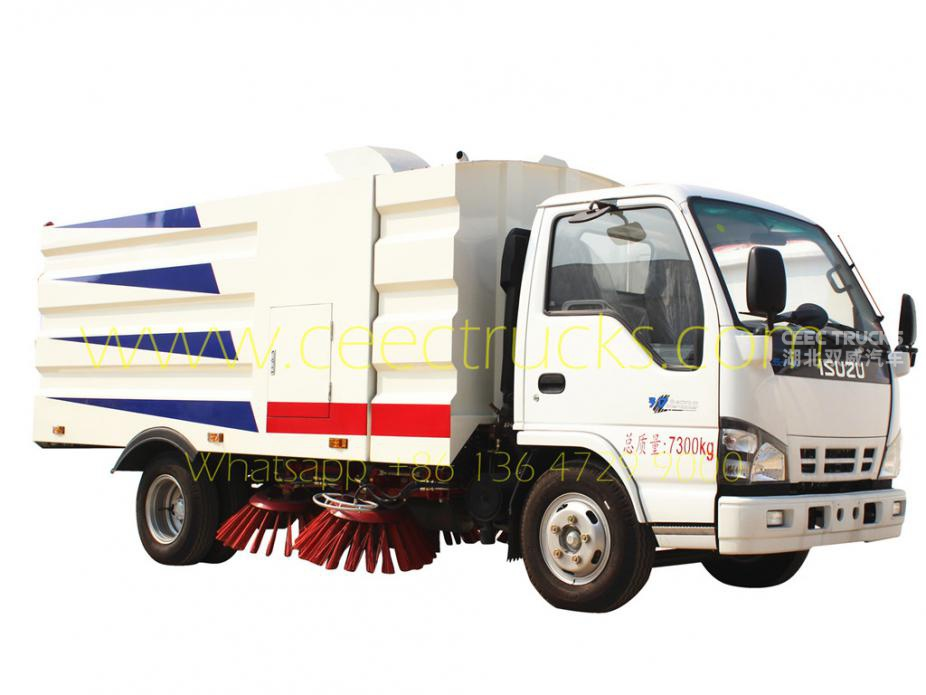 ISUZU 5000L road sweeper truck best supplier
