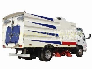 2017 produced ISUZU 5000L road sweeper truck