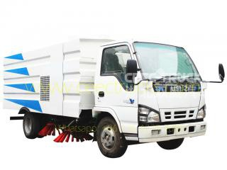 ISUZU 5 CBM road sweeper truck with square tanker