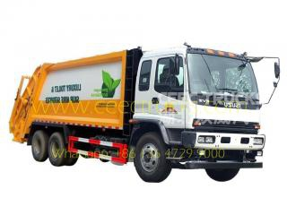 Japan ISUZU 20 CBM garbage compactor vehicle