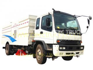ISUZU 12CBM road sweeper truck manufacturer