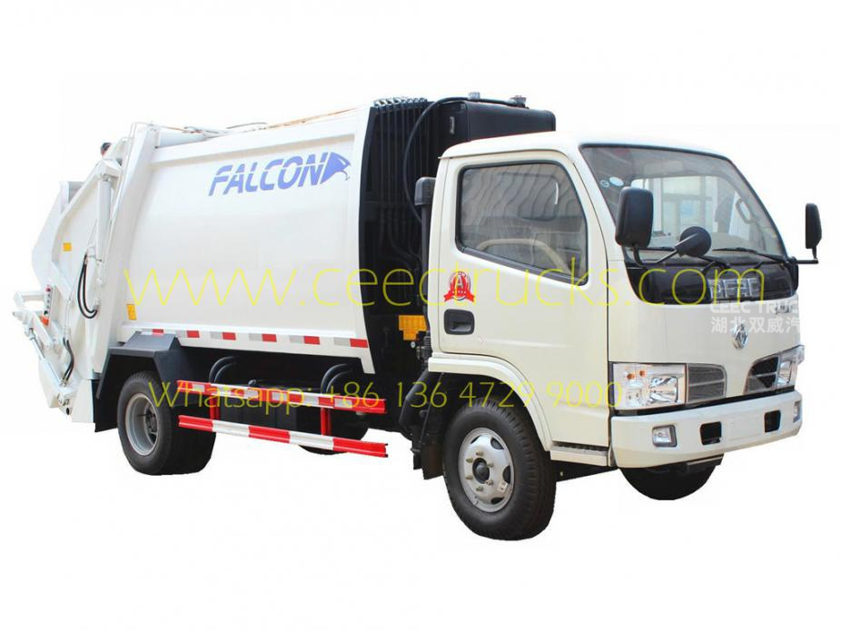 Best quality Dongfeng 5CBM garbage compactor