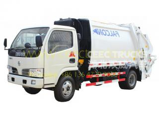Best quality Dongfeng 5CBM garbage compactor truck