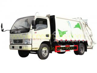 TOP design Dongfeng 5CBM garbage compactor vehicle