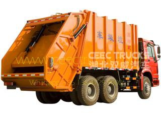 Howo 20 CBM garbage compactor truck for sale