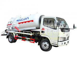 Dongfeng 4,000L vacuum sewage truck for sale
