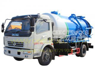 Dongfeng 6,000L sewage suction tanker vehicle