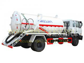 Dongfeng 10,000L used vacuum suction pump truck