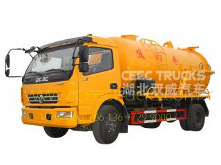 6CBM sewage suction tank truck