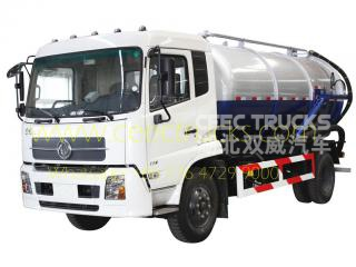 Dongfeng 10,000L vacuum tank truck