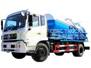 Dongfeng 10,000L vacuum sewer truck - CEEC