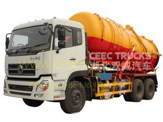 Dongfeng 16CBM vacuum sewage suction tanker truck
