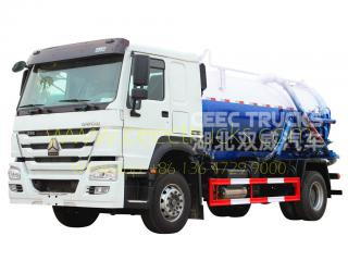 HOWO RHD model 10,000L vacuum sewer truck