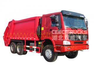 Howo 18 CBM refuse compressor truck for sale