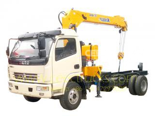 Low price 4 T truck mounted crane trucks