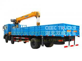 Telescopic 12T mobile boom crane trucks Dongfeng