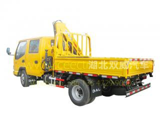 JAC brand 2 Tons knuckle crane trucks