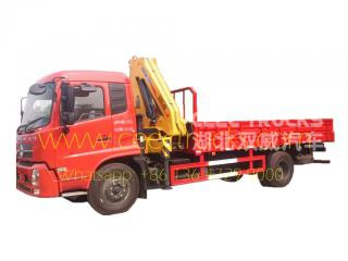 DONGFENG 6.3 Tons knuckle crane mounted trucks
