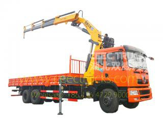 Low price 16 T knuckle boom crane dongfeng