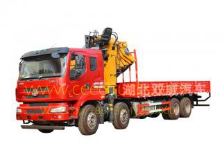 25 T knuckle boom crane truck dongfeng
