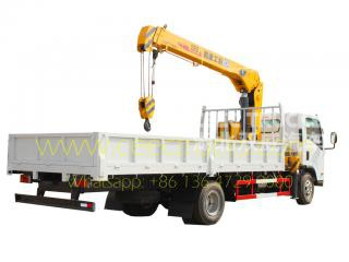 TOP quality ISUZU 5 T truck crane low price