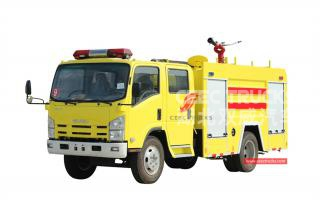 ISUZU 4+1CBM Water-foam Fire Fighting Truck - CEEC