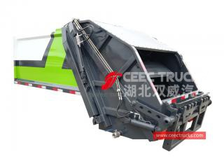 european standard 3,000 liters trash compactor truck upper body