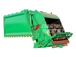 european standard 12,000 liters compression trash truck body
