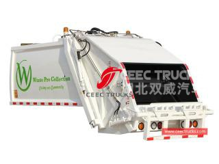 european standard 5,000 liters waste compactor truck body