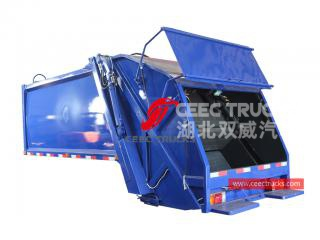 european standard 8,000 liters compression garbage truck upper body