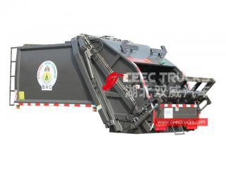 european standard 6,000 liters refuse compactor truck upper body