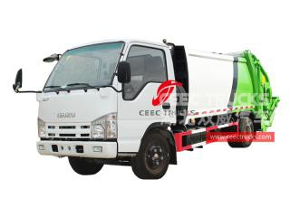 ISUZU 5CBM Back-loading compression waste truck - CEEC